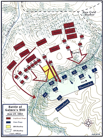 gaines mill map